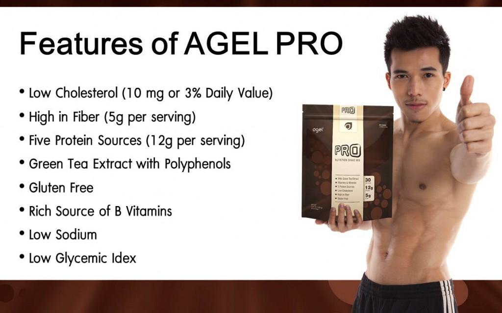 ส่วนประกอบสำคัญของอาเจลโปรตีน ลด cholesterol high in fiber, five protein sources, green tea extract