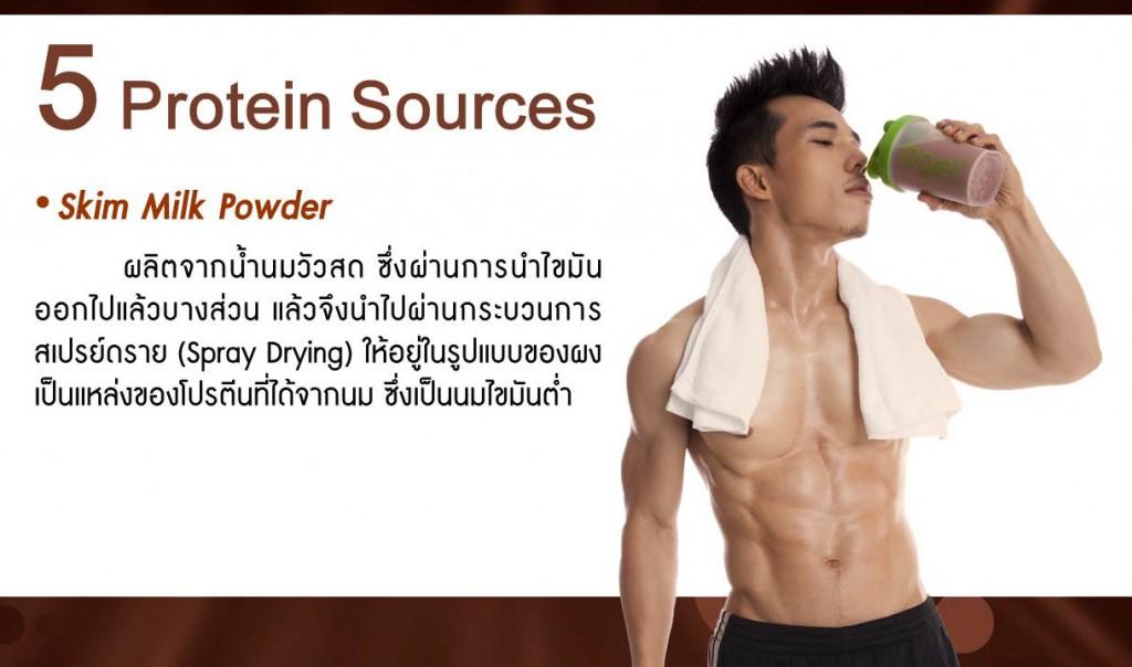 หางนมผง (Skim Milk Powder)  ผลิตจากน้ำนมวัวสด